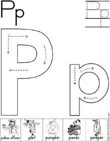 Printable Letter P Worksheets Preschool