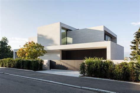 Moderne Haus Zuerich by Neubau Villa Z 252 Rich Strassenfassade Dietfurter Kalkstein