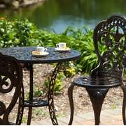 Garden Table And 2 Chairs Set by 3 Piece Cast Aluminum Outdoor Bistro Set With Table And 2 Chairs AquaGarden