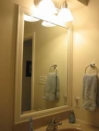 frame a mirror Elizabeth & Co.: Framing Bathroom Mirrors