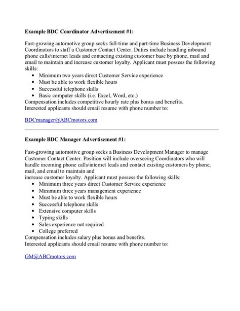 Wanted Resumes by Exle Bdc Staff Mgr Help Wanted Ads