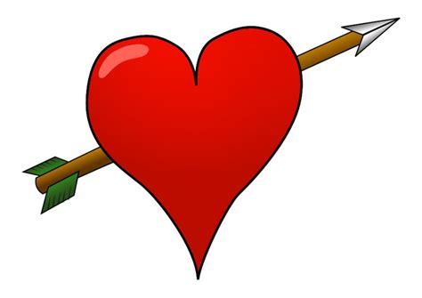 immagine cuore  freccia disegni da stampare gratis