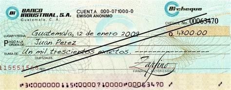 El cheque cruzado - Informepedia