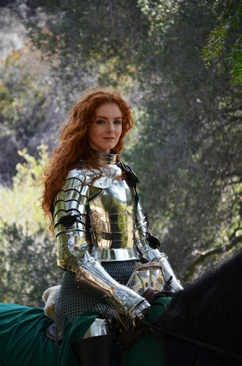 Virginia Hankins - professional female knight, stunt rider ...