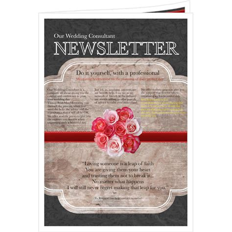 bridesmaid newsletter template newsletter templates sles newsletter publishing software publisher plus