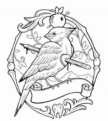 Tattoo Coloring Pages Cool Printable Project Skull
