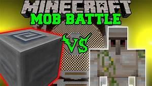 Iron Golem Vs Slider Mimic Boss Minecraft Mob Battles