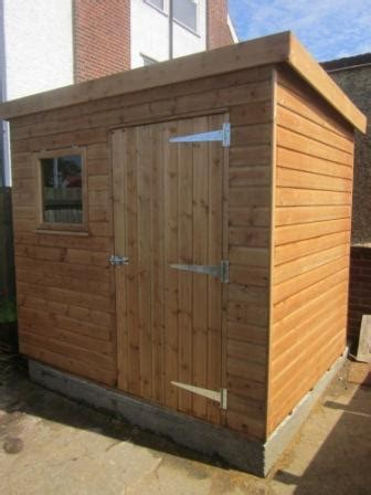 classic garden shed  pent roof plan ref