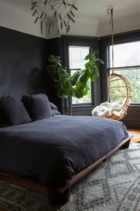 Schlafzimmer Schwarze Wände schlafzimmer schwarz 31 beispiele dass schwarze