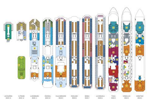 costa deckplan deckplaene der kompletten costa flotte