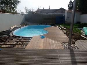 terrasse piscine sans margelle With plage piscine sans margelle 5 piscine