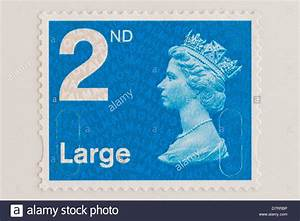a royal mail 2nd class postage stamp for large letters With large letter stamp