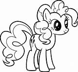 Pony Coloring Pages Printable Colouring Poni Pinkie Pie Disney sketch template