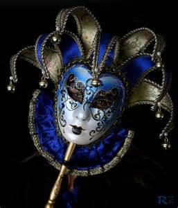 Blue Venetian Masquerade Masks