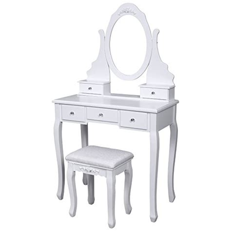 Cheap Dressing Tables With Mirror And Stool Buy Cheap Songmics Vanity Set W Stool And Mirror Make Up