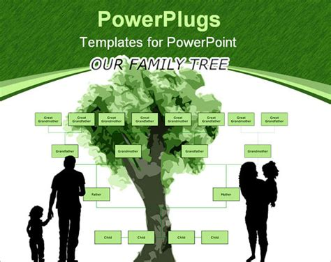 genealogy powerpoint template  powerpoint family tree
