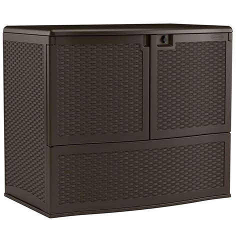 suncast oasis vertical deck box suncast storage building backyard oasis 195 gal vertical