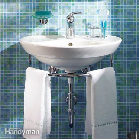 Installing a Bathroom Sink: Wall Hung Sink   Family