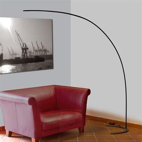 LED Bogenstehleuchte Danua in Schwarz kaufen   Lampenwelt.de