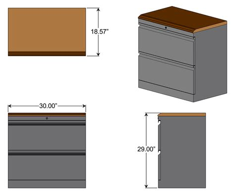 File Cabinet Sizes by Lateral File Cabinet With Premium Wood Top Caretta Workspace