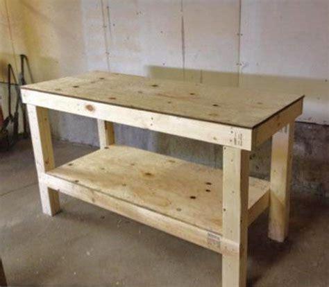 easy diy garage workshop workbench knock  wood diy
