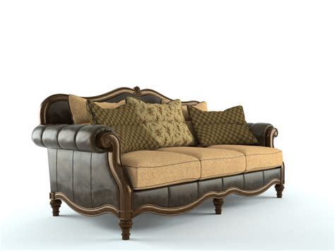 claremore antique sofa 3d model skp cgtrader