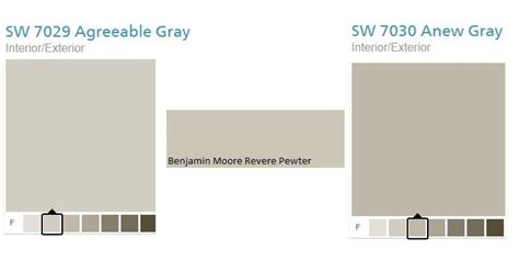 which sherwin williams gray is comparable to revere pewter