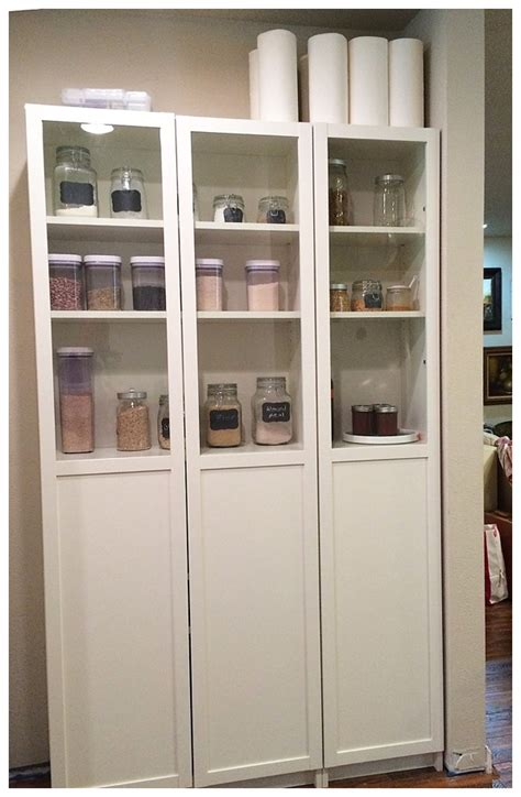 Free Standing Shelves For Closet by Ikea Pantry Hack Kitchen Pantry Using Ikea Billy Bookcase