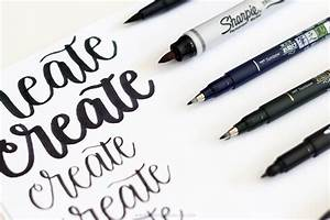 the best brush lettering pens for beginners printable crush With hand lettering pens for beginners