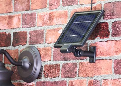 gama sonic barn solar outdoor led light fixture gooseneck