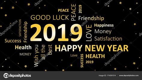 New Years Card Happy New Year 2019 And Wishes