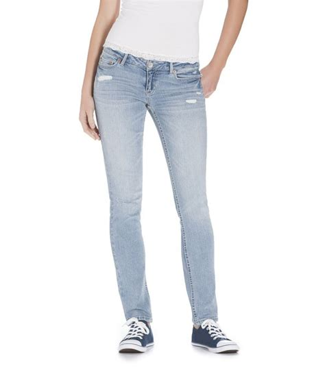 aeropostale womens bayla rhinestone  rise skinny fit jeans womens apparel  shipping