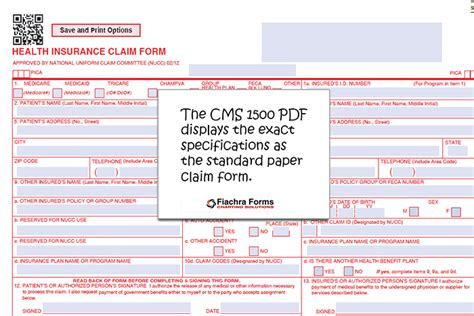 Cms 1500 Pdf Template  Fiachra Forms Charting Solutions