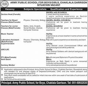 2018 Army Pay Chart Army Public School For Boys Girls Chaklala Garrison