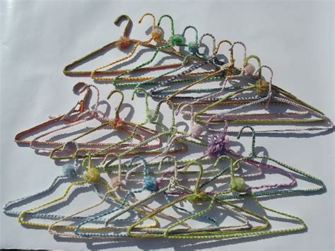 funky clothes hangers funky retro bright yarn covered wire clothes hangers a whole closet full