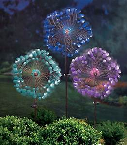 Bronze Solar Stake Lights Gr Spinner Pinwheel Garden Stake With Glass Ball That 39 S