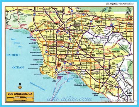 map  los angeles california travelsmapscom