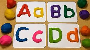 playdough letter tracing preschool learning activity youtube With play doh letters