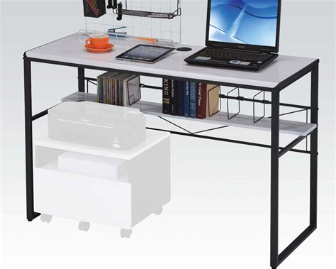 black and white desk l black and white computer desk by acme furniture ac92072