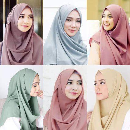 hijab instan bahan kaos