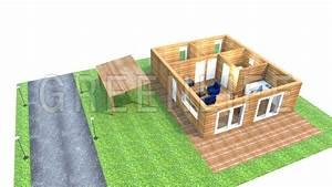 maison ossature bois marea maison bois greenlife With maison toit plat bois 4 isolation pare vapeur et gazon notre maison ossature bois