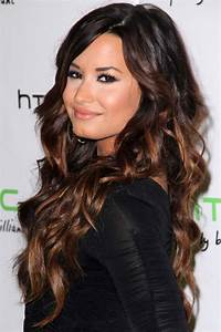Demi Lovato Wavy Dark Brown Ombré Hairstyle | Steal Her Style