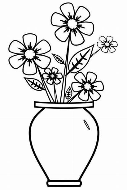 Coloring Vase Pages Children