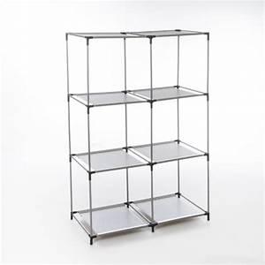 Etagere 6 Cases : etagere 6 cases sienna gris noir ~ Teatrodelosmanantiales.com Idées de Décoration