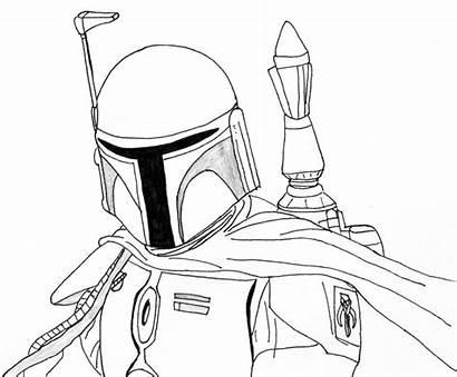 Mandalorian Coloring Pages Drawing Wars Star Helmet