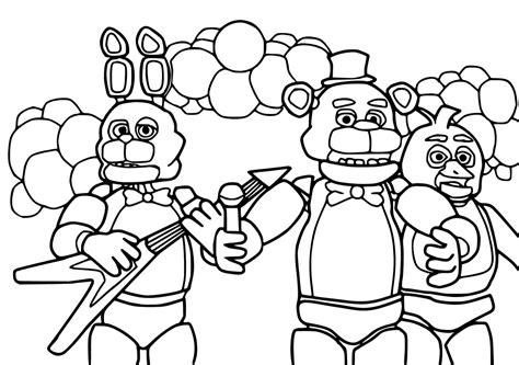 Five Nights At Freddys Kleurplaat Foxy by Foxy Five Nights At Freddys Coloring Pages Printable