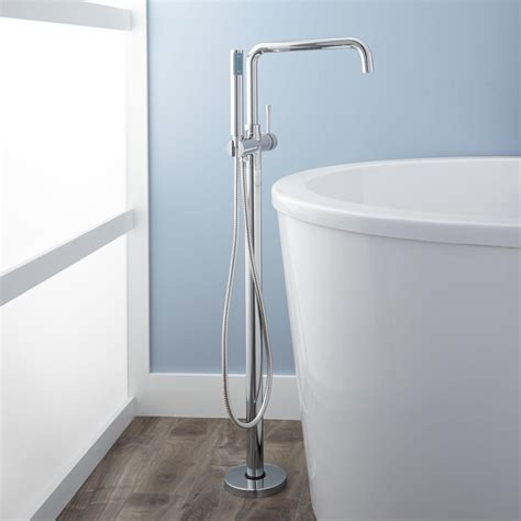 free standing tub faucet signature hardware humboldt thermostatic freestanding tub