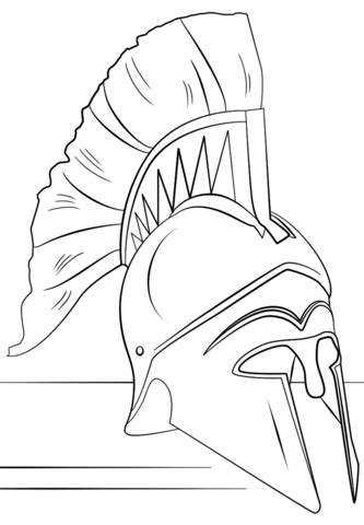 roman soldier helmet coloring page  printable coloring pages