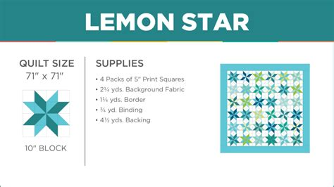 lemon star quilt missouri star blog