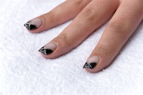 manicure with design black nail designs acrylic nail designs